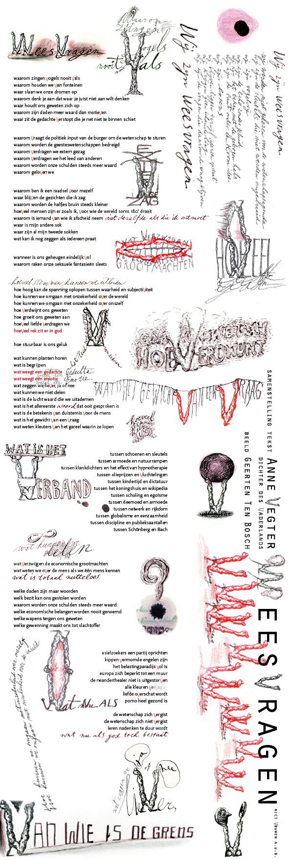 Geerten Ten Bosch, W eesvragen,                       Anne Vegter, weesvragen, poëzie, nationale wetenschapsagenda,