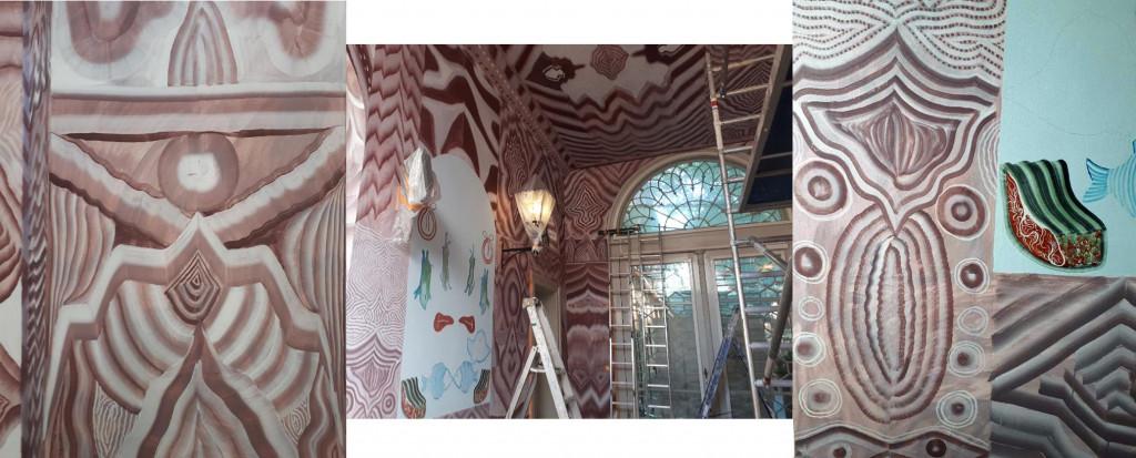 Geerten Ten Bosch, muurschildering Gijs Frieling,                               art, kunst, wallpainting, muurschildering, Dordrechts Museum,