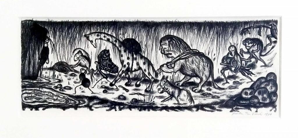 Geerten Ten Bosch, Toon Tellegen,                               illustration, Toon Tellegen, verjaardag, de verjaardag van de tor