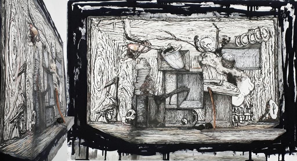 Geerten Ten Bosch, STILL,                               , art, tekening, mixed media, tentoonstelling