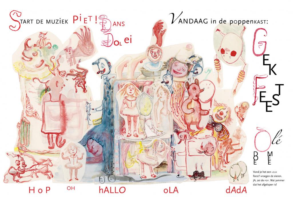 Geerten Ten Bosch, Ei! Ei! De wonderlijke reis van twee eieren en een poppenkast,                               presentatie, tentoonstelling, verkoop, prentenboek,