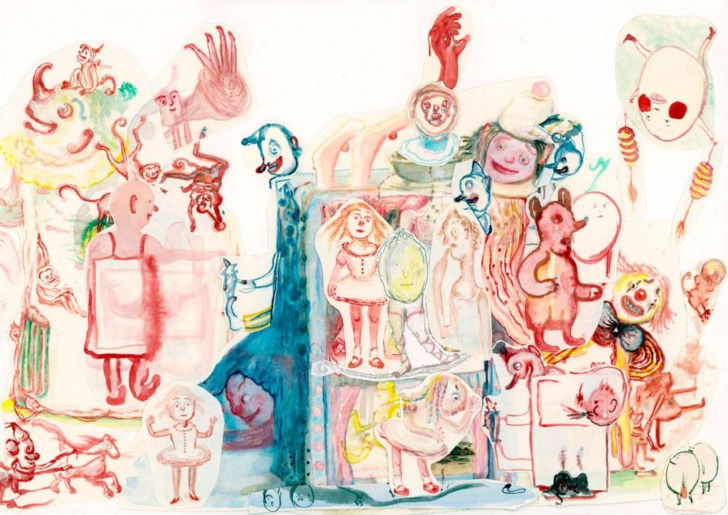 Geerten Ten Bosch, Banketje Book,                               , drawing, tekening, art, kunst, boek